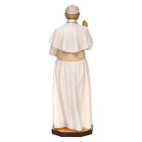 Pope Francis Statue wood painted Val Gardena s4