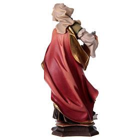 Figura Święta Cecylia z Rzymu z organami drewno malowane Val Gardena s5