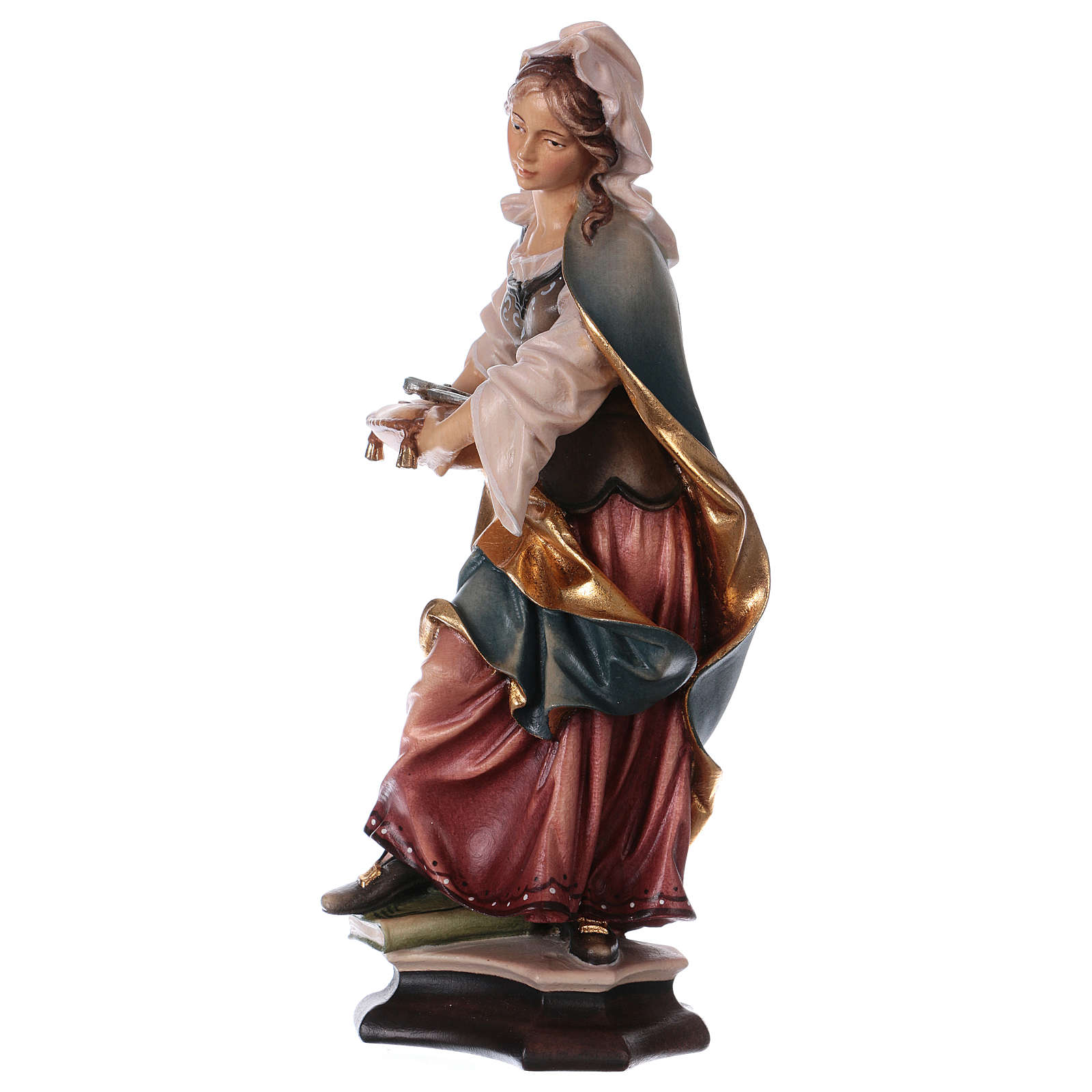 Saint Apollonia of Alexandria Statue with Prong wood painted Val Gardena 4