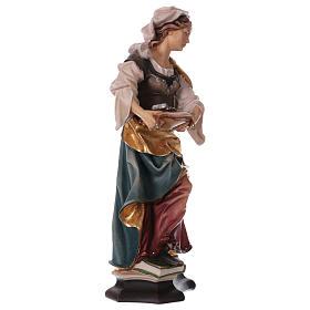 Saint Apollonia of Alexandria Statue with Prong wood painted Val Gardena s4