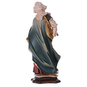 Saint Apollonia of Alexandria Statue with Prong wood painted Val Gardena s5