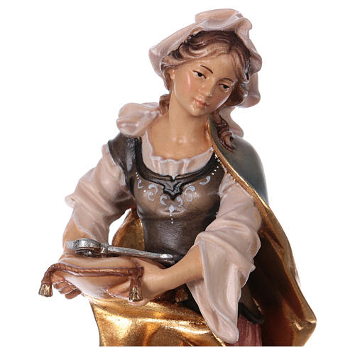 Saint Apollonia of Alexandria Statue with Prong wood painted Val Gardena 2