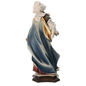 Statue Sainte Marguerite d'Antioche avec croix bois peint Val Gardena s5