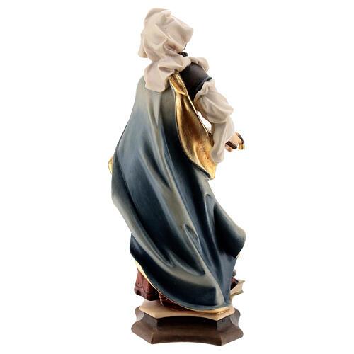 Estatua Santa Julia de Córcega con palma madera pintada Val Gardena 3