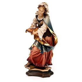 Statue of St. Lucia of Syracuse with eyes in painted wood from Val Gardena s3