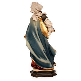 Statue of St. Lucia of Syracuse with eyes in painted wood from Val Gardena s5