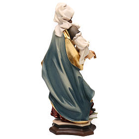 Statua Santa Agnese da Roma con agnello legno dipinto Val Gardena s5
