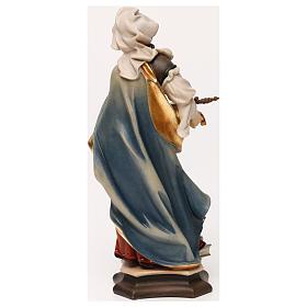 Estatua Santa Sofía de Roma con espada madera pintada Val Gardena s5