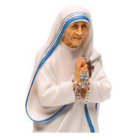 Statua Santa Madre Teresa di Calcutta legno dipinto Val Gardena s2