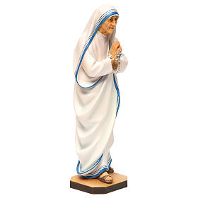 Statua Santa Madre Teresa di Calcutta legno dipinto Val Gardena s4