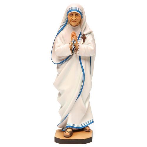 Saint Theresa of Calcutta Statue wood painted Val Gardena 1