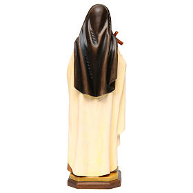 Statue of St. Therese of Lisieux (St. Therese of Child Jesus) in painted wood from Val Gardena s5