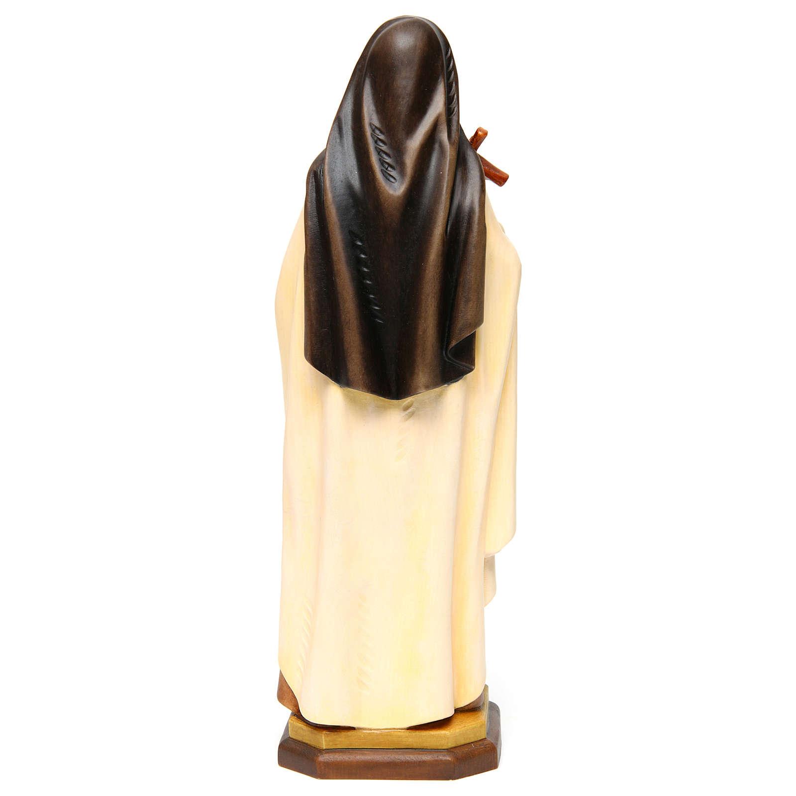 Santa Tersa de Lisieux (S. Teresa del Niño Jesús) madera pintada Val Gardena 4