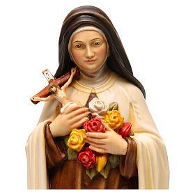 Santa Teresa di Lisieux (S. Teresa del Bambino Gesù) legno dipinto Val Gardena s2