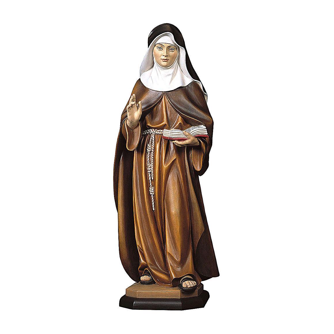 Statua Monaca clarissa legno dipinto Val Gardena 4