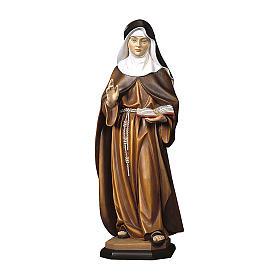 Statua Monaca clarissa legno dipinto Val Gardena s1