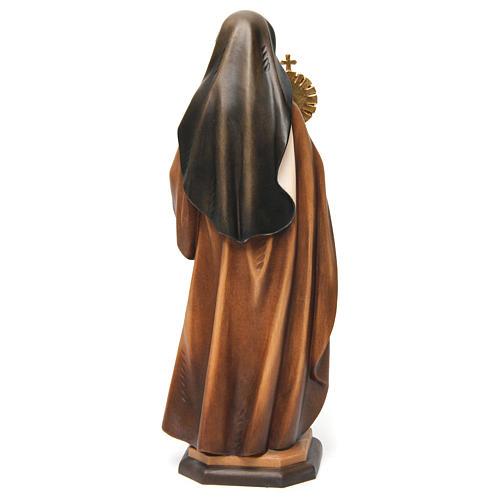 Statua Santa Chiara d'Assisi con ostensorio legno dipinto Val Gardena 5