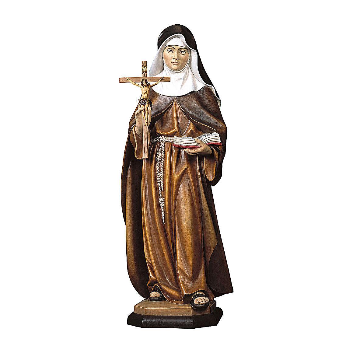 Santa S. Maria Crescentia Höss da Kaufbeuern con crocifisso legno dipinto Val Gardena 4