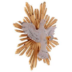 Estatua Espíritu Santo con corona de rayos madera pintada Val Gardena s3