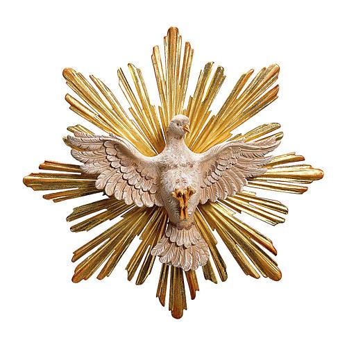 Statua Spirito Santo con raggiera legno dipinto Val Gardena 1