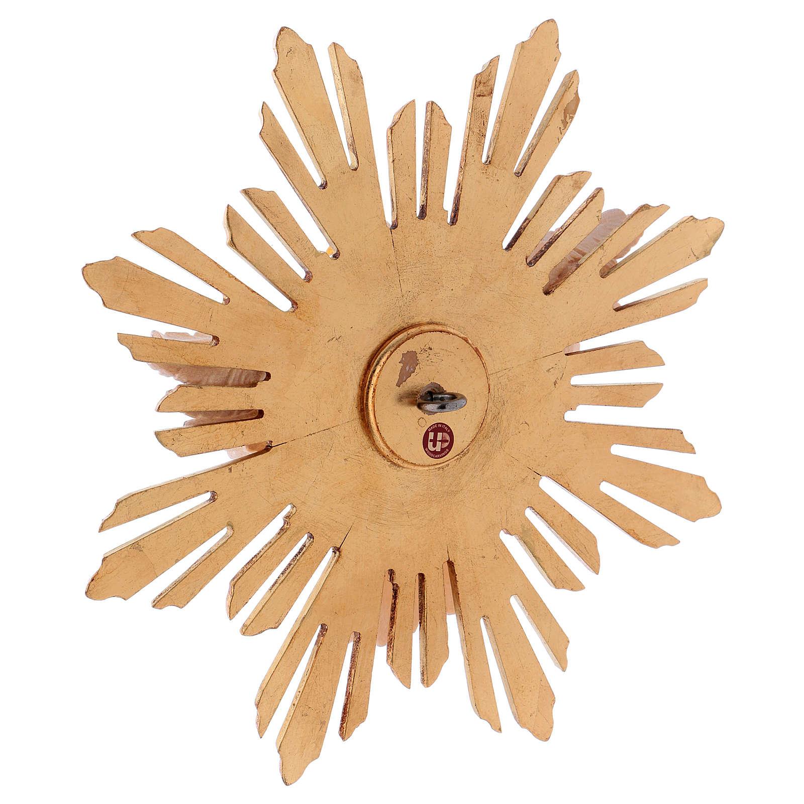 Figura Duch Święty z promieniami drewno malowane Val Gardena 4