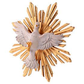 Imagem Espírito Santo com raios madeira  pintada Val Gardena s4