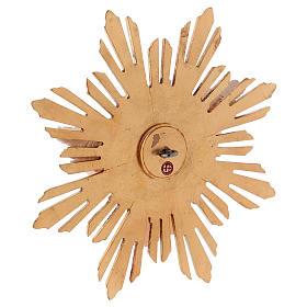 Imagem Espírito Santo com raios madeira  pintada Val Gardena s5