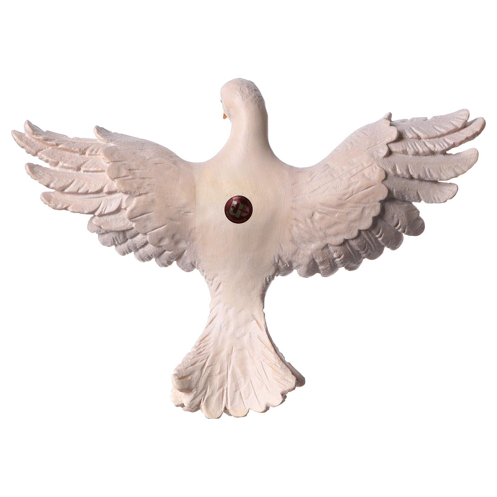 Statua Spirito Santo legno dipinto Val Gardena 4