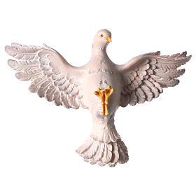 Statua Spirito Santo legno dipinto Val Gardena s1