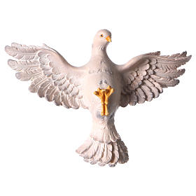 Hand painted wooden statues: Holy Spirit Statue wood painted Val Gardena