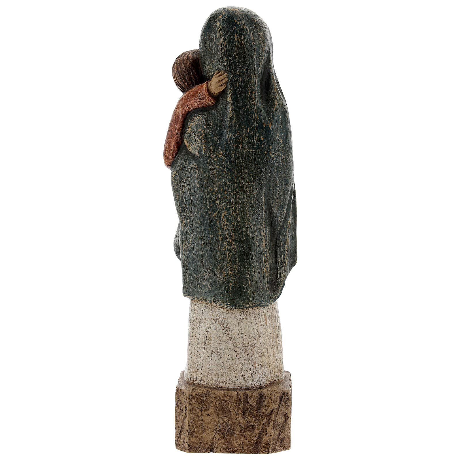 Wooden Our Lady statue Spanish style, 27 cm Bethleem nuns 4