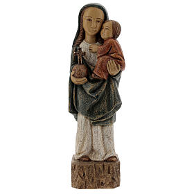 Wooden Our Lady statue Spanish style, 27 cm Bethleem nuns s1