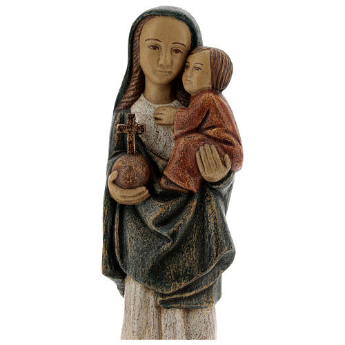 Wooden Our Lady statue Spanish style, 27 cm Bethleem nuns 2