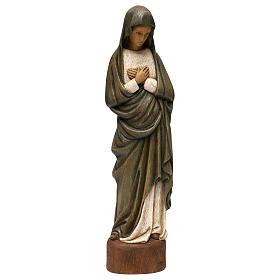 Statues en bois peint: Notre-Dame de l'Annonciation 52 cm bois Bethléem