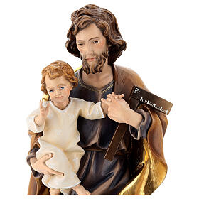 São José com o Menino e esquadro madeira Val Gardena