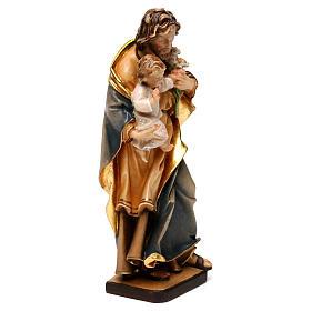 Heiliger Josef mit Kind und Lilie Grödnertal Holz s4