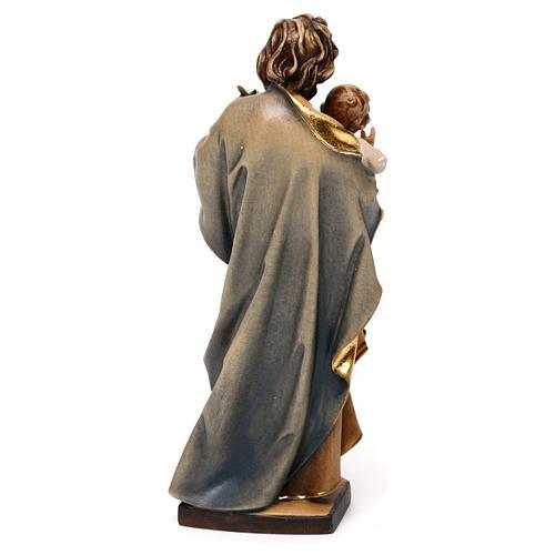 San Giuseppe con bambino e giglio legno Valgardena 5