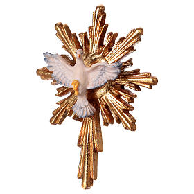 Espíritu Santo con corona de rayos larga madera Val Gardena s2