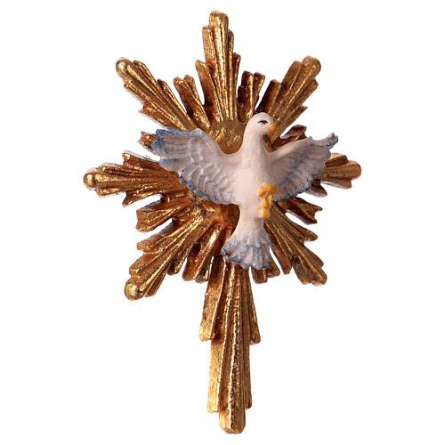 Espíritu Santo con corona de rayos larga madera Val Gardena 3