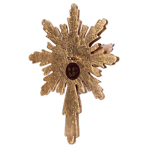 Espíritu Santo con corona de rayos larga madera Val Gardena 4
