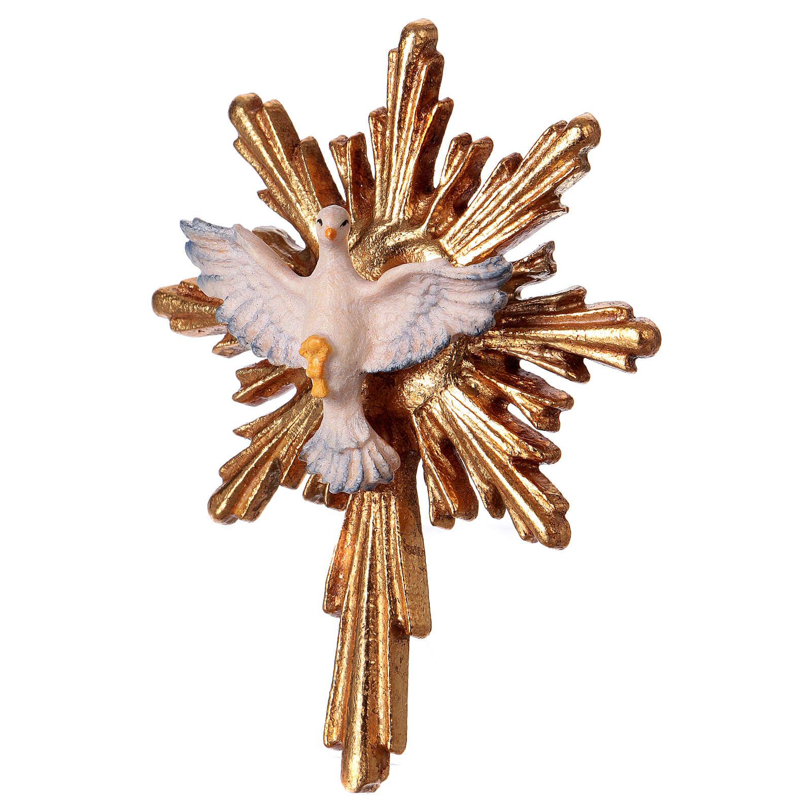 Espírito Santo com raios longos madeira Val Gardena 4