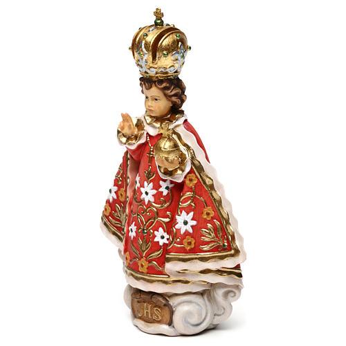 Gesù bambino di Praga legno Valgardena 3