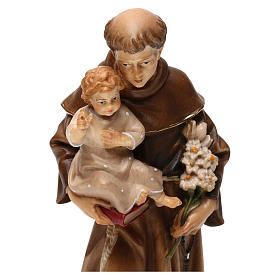 St Anthony of Padua statue in Valgardena wood s2