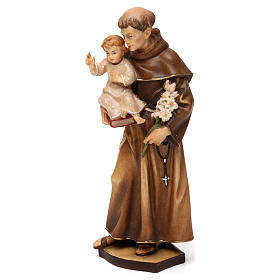 St Anthony of Padua statue in Valgardena wood s3