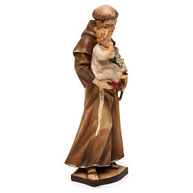 St Anthony of Padua statue in Valgardena wood s4