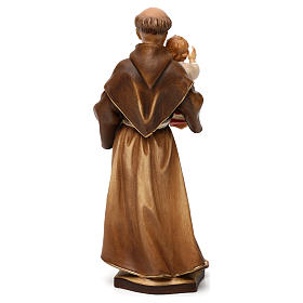 St Anthony of Padua statue in Valgardena wood s5