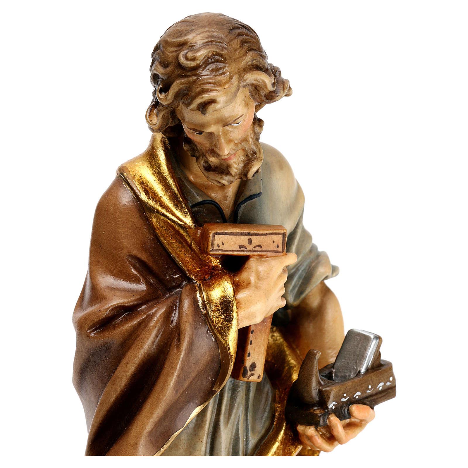 Heiliger Josef der Tischler Grödnertal Holz 4