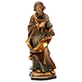Statues en bois peint: Saint Joseph artisan bois Val Gardena