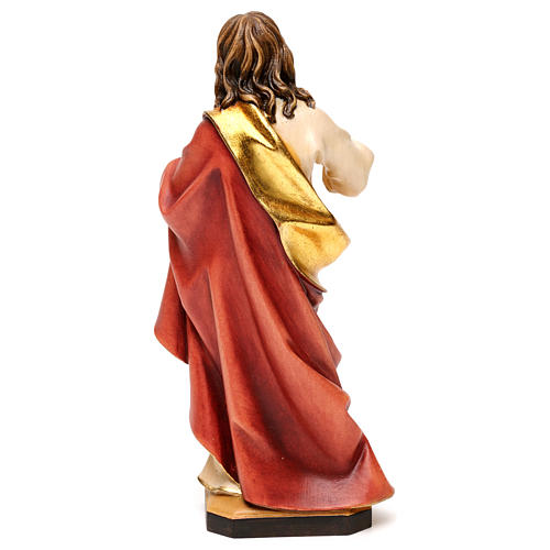 Sacred Heart of Jesus statue in wood, Val Gardena 5