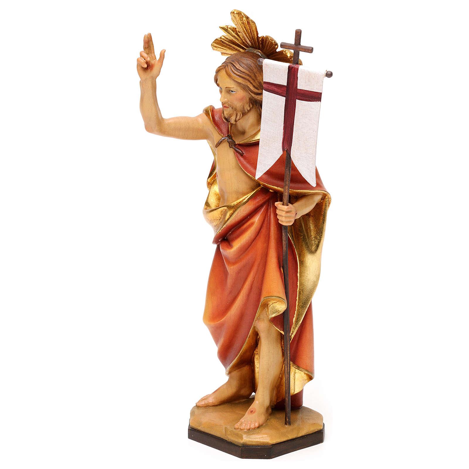 Risurrezione di Cristo con raggiera legno Valgardena 4